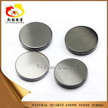 Yizuan natural black onyx polished agate slices for jewelry decoration