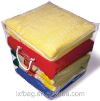 pvc zipper plastic blanket bag