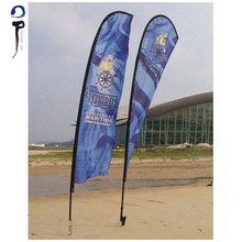 Advertising Flying Teardrop Beach Banner Flag