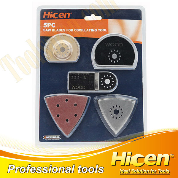 Professional 5pcs Saw Blade for Oscillating Tool with Sanding Paper