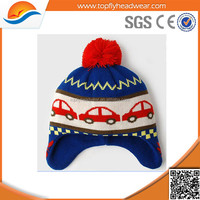 selling hats beanie/kids funny winter hats with pom poms wholesale beanie hat