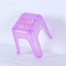 low price Colorful printed Transparent Plastic Stool/desk