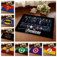 40*60cm TF-W01151107012 United States captain Avengers anti-slip carpet floor mats door stepping pad flannel prints