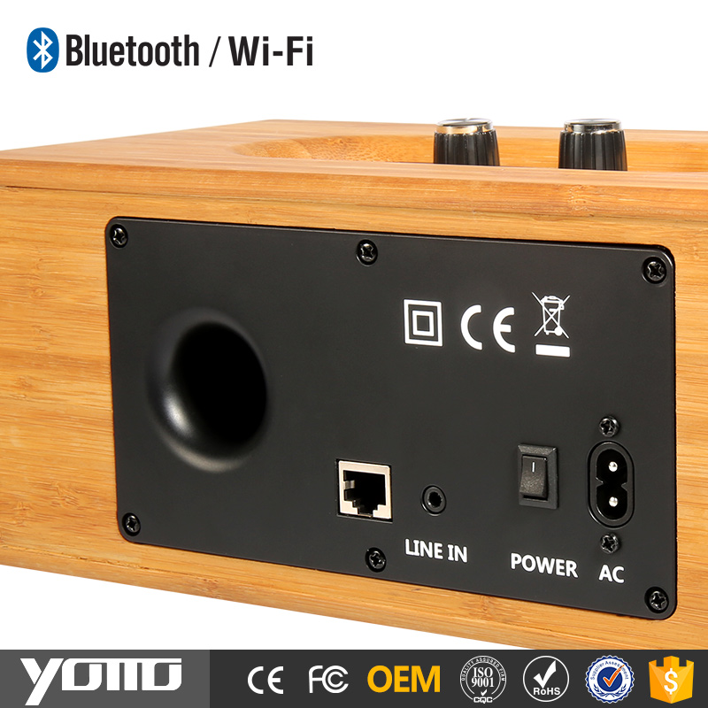 YOMMO Eco-friendly Wood Speaker High Quality Mobile FM Radio Portable Wood Speaker Bluetooth