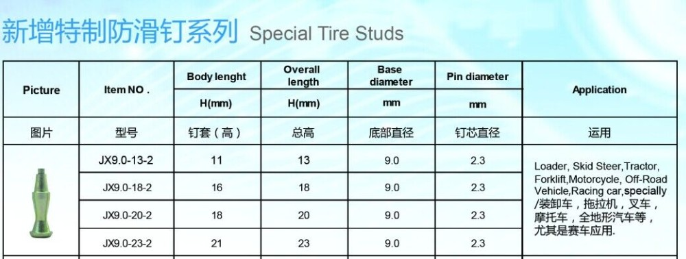 Factory stainless steel body removable tungsten carbide screw tire studs for sale