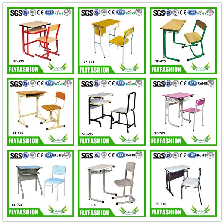 SF-79S Promotional High Quality Plywood Cheap Wood Classroom Desk and Chair School Furniture