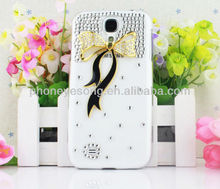 9500 Bling Bowknot Hard Plastic Diamond Case for Samsung S4