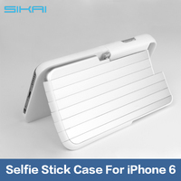 Handheld Selfie Stick Cover Camera Self-Timer lever Retractable Aluminum Phone Box Cases For iphone 6 6s 4.7inch