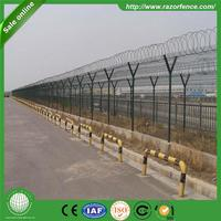 New design pvc powder coated Security Welded Airport Fencing with CE Certification