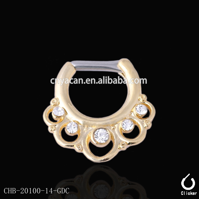 Hot Selling 316l Steel Septum Piercing Retainer Indian Body Jewelry