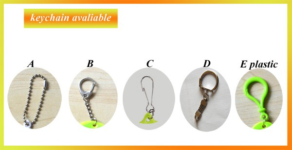 China Alibaba On Line Round Ring Silicone Keychain