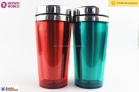 Wholesales 400ml Vacuum Car Thermos Mug With Press-Button Lid Plastic