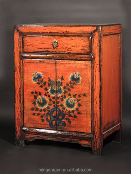 Chinese Antique Asian Furniture Shanxi Original Painted Cabinet
