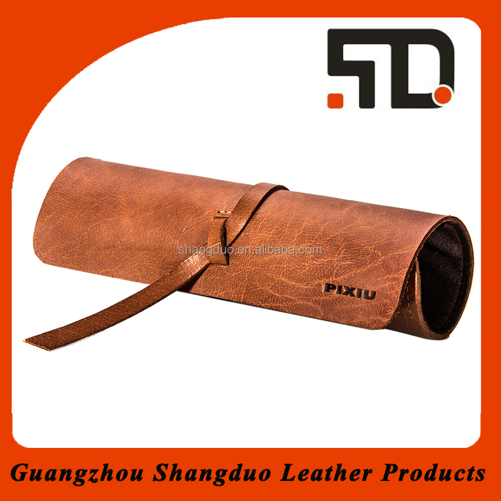 Top Quality New Design Cheap Handmade Leather Pencil Case for Men