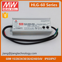 54V 1.15A HLG-60H-54 IP67 Meanwell 60W Waterproof LED Power Transformer