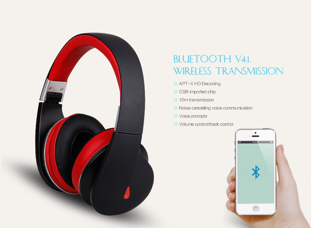 AUSDOM AH2 On-ear bluetooth headphones with Ergonomic design for long-time wearing and Noise cancelling for mini headset