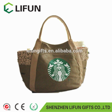 2017 New Starbucks Cotton canvas Shopping gift Tote Bag
