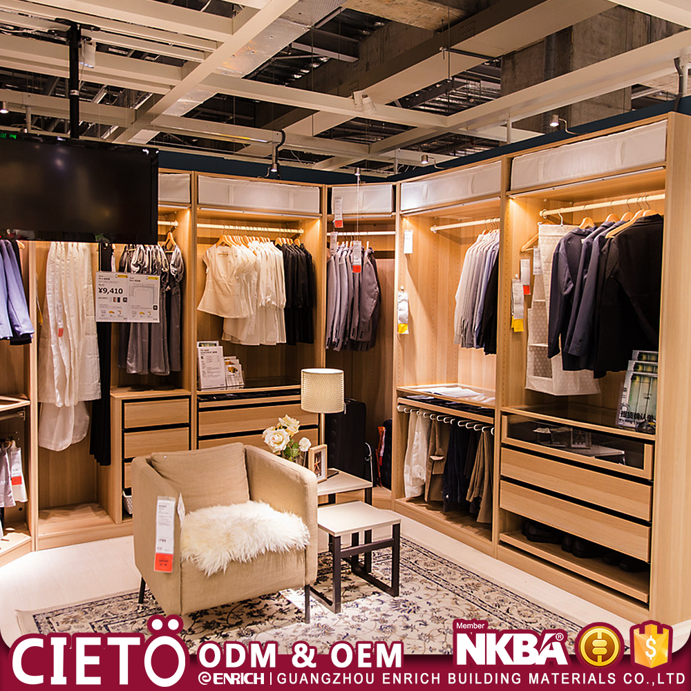 Good looking high quality wooden walking closet from professional factory