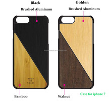 Mobile accessories mobile phone metal cover cell phone wood case for iphone 7