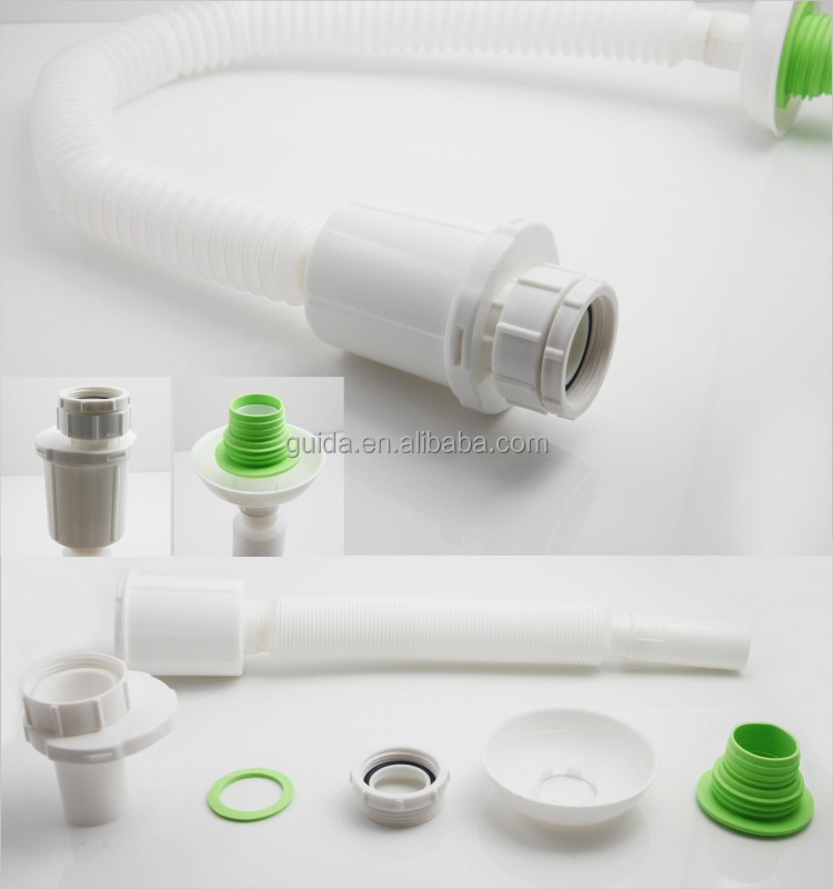 New style anti-blocking and deodorize plastic flexible drain hose