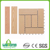 High value recyclable wood texture natural outdoor patio decking floor covering
