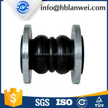 Large diameter rubber reinforced bellows expansion joint