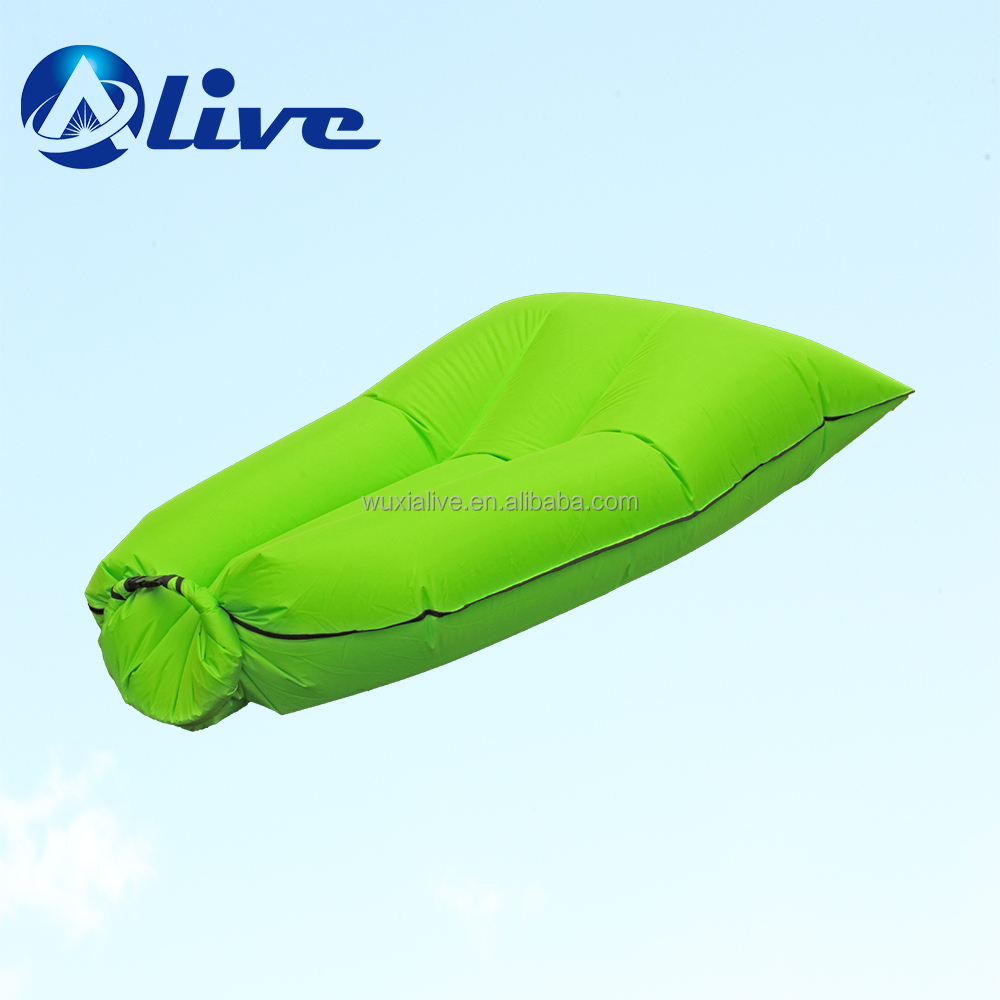 good quality nylon fabric outdoor inflatable air bed beach sofa