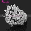 Vintage Couture Leaves Side Accented Crystal Bridal Rhinestone Headband Headpieces