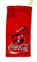 Algodon Coke promotion Soccer full color printed USA beach towel