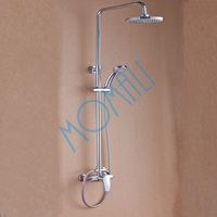 Bathroom Luxury Wall Mounted Brass bath Shower Mixer faucet Set