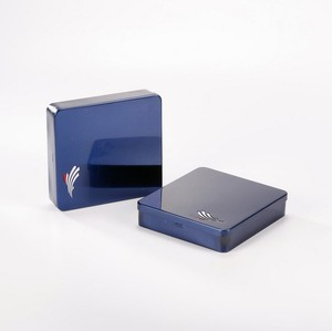 China Supplier Square Small Metal Hinged Lid Tin Box For Chewing gun