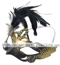 wholesale latest halloween handmade craft feather mask