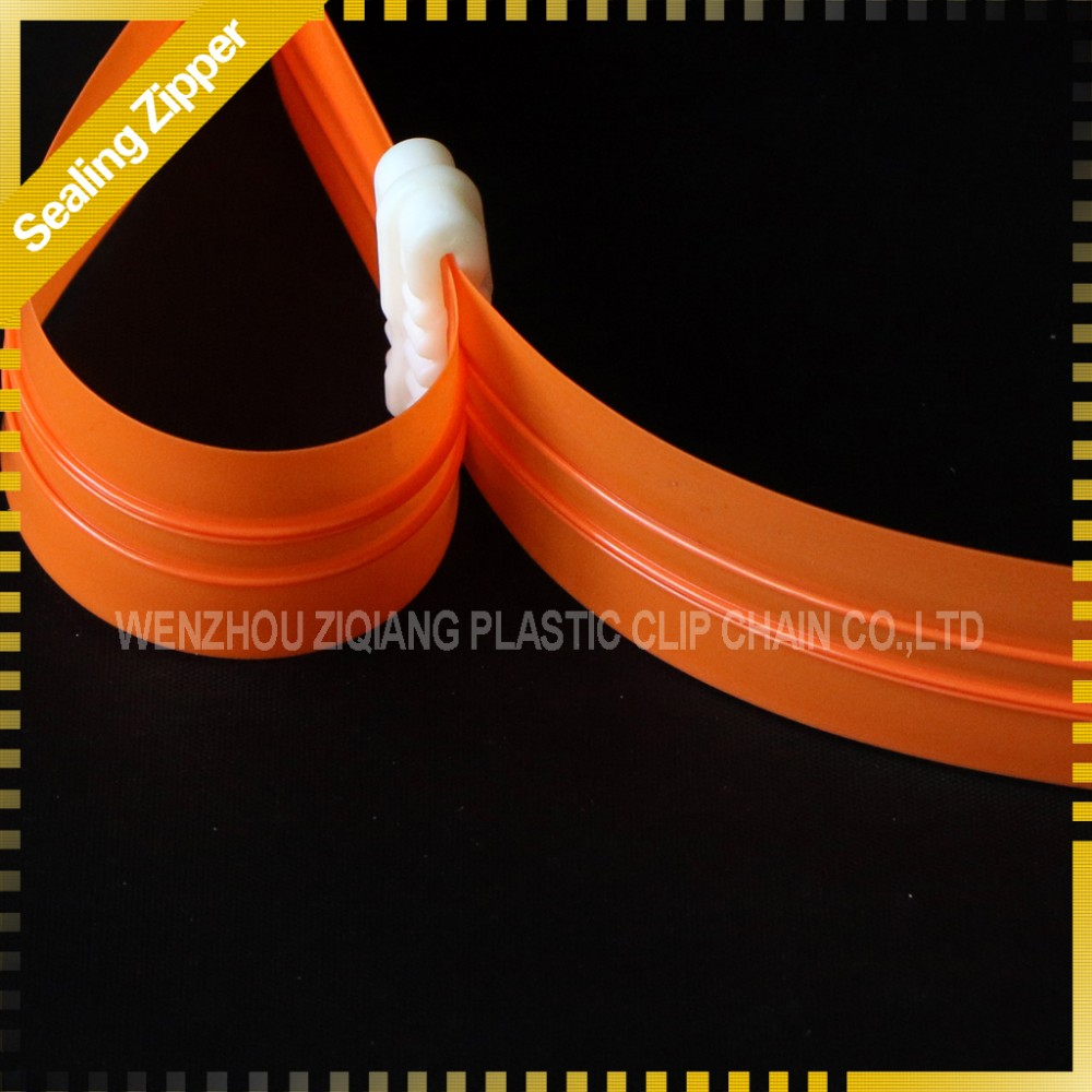 Superior double track PE zipper for vacuum storage bag