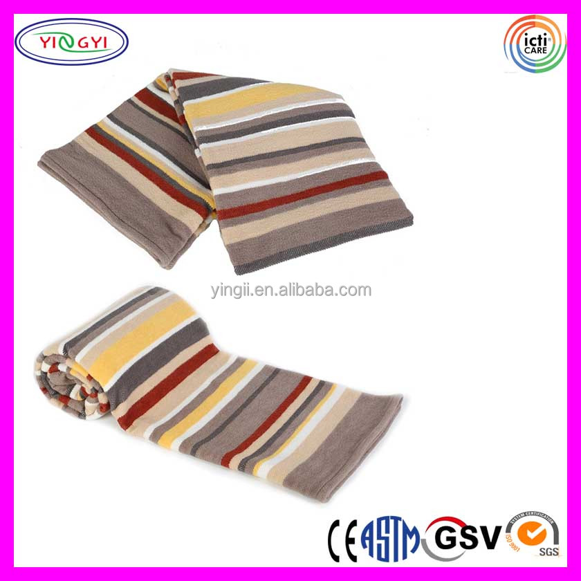 C296 All Season Collection Mexican Cotton Blend Throw Blanket Desert Stripe Mexican Soft Blankets