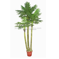 Three Trunks Potted Artificial Palm Tree