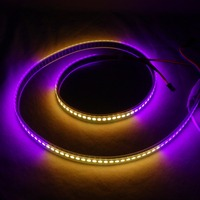 Addressable 2m 144LEDs/m DC5V WS2813 RGB full color led pixel strip;waterproof in silicon tube;IP66,with 144pixels/M;BLACK PCB