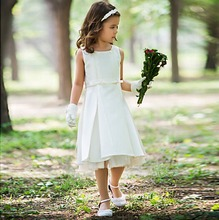 First christening baby costume dresses for girls of 11 years old Muslim kids long dress communion dress