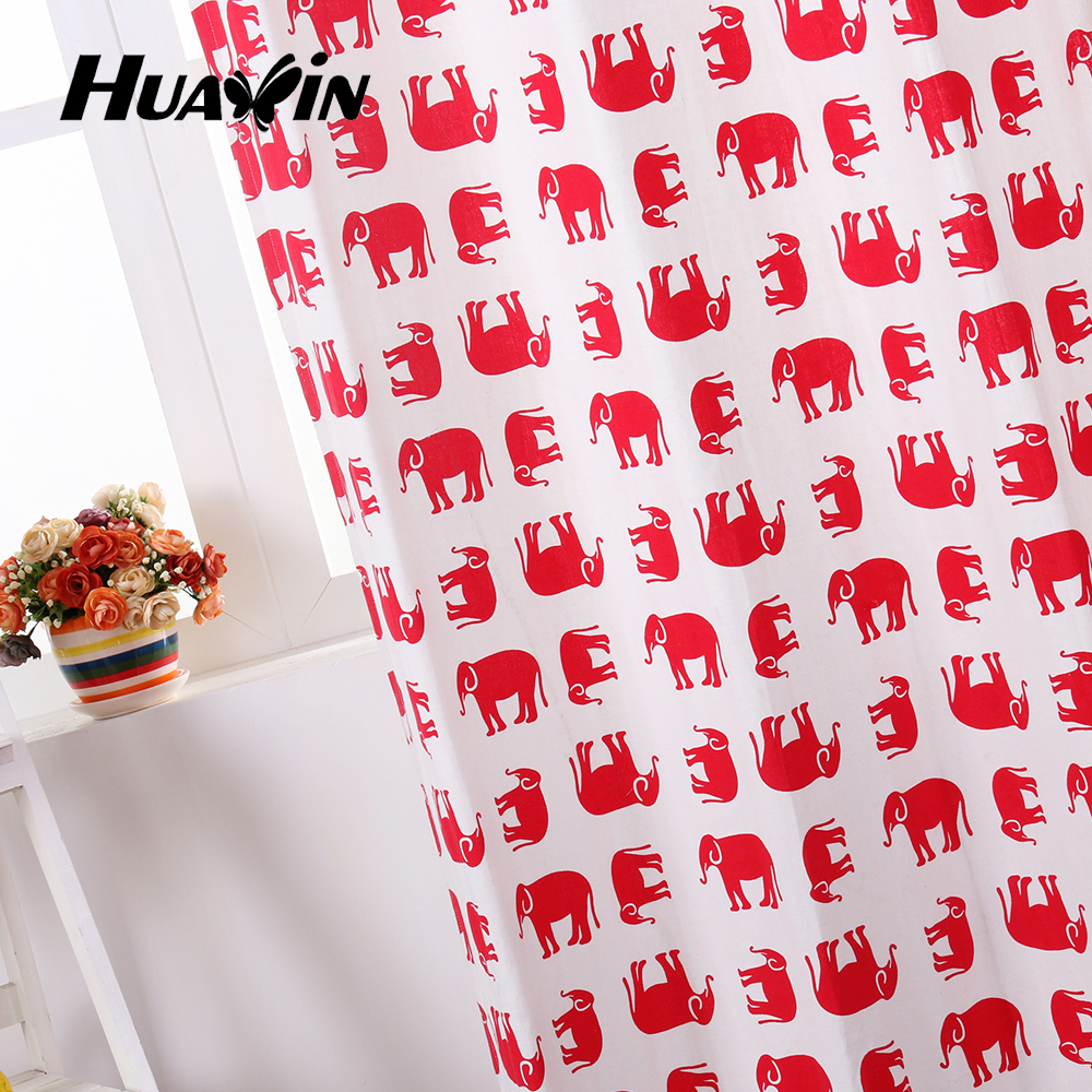polyester cotton cartoon design printed fabric curtain for home