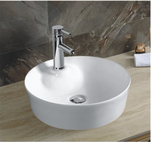 YJ9383 Round ceramic commercial bathroom sink countertop