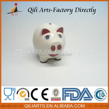 New design pig shape ceramic painting ceramic pig money bank