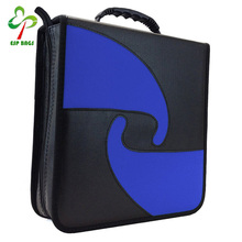 Vinyl PU leather 240 capacity cd dvd case, compact heavy duty cd bag wholesale