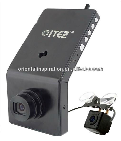New product Dual Camera Car dvr HD 720p with GPS and G-sensor