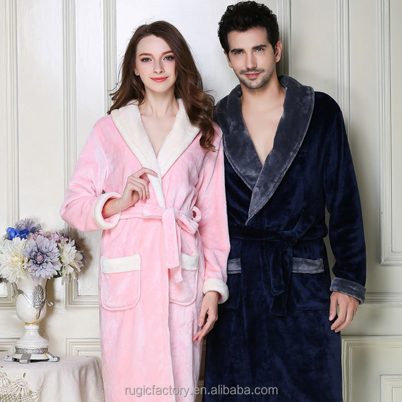 Supersoft Housecoat Fleece Bath Robe Dressing Gown Gents Warm Winter Style