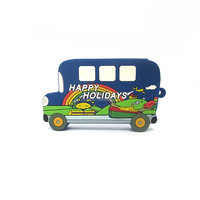 usb flash stick bus shaped pvc for promotion gifts