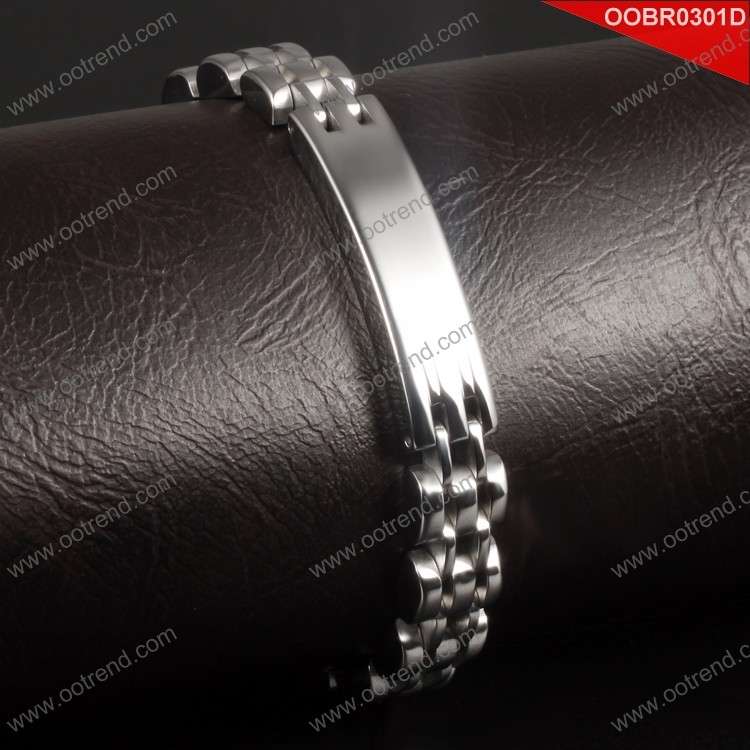 2017 wholesale factory hot sell stainless steel ID bracelet