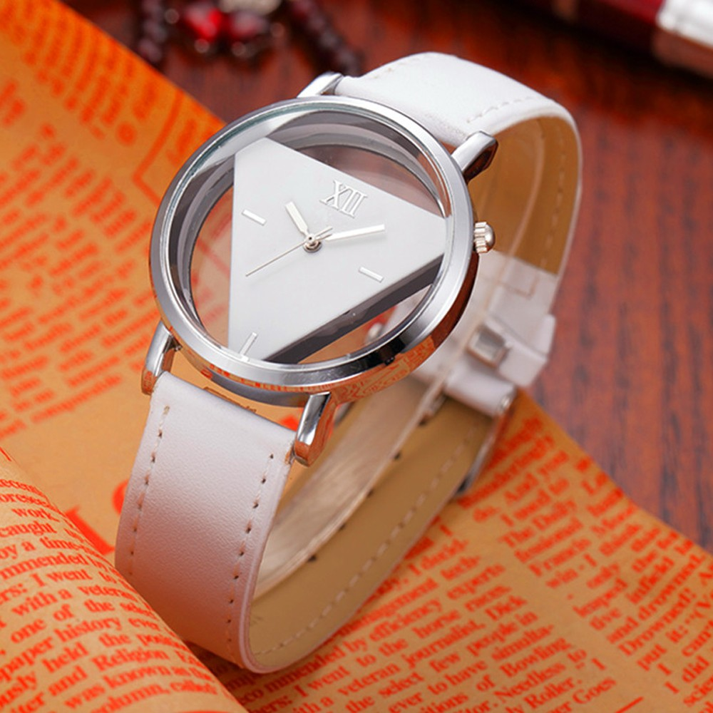 Special Triangle Face Wholesaler OEM Design Quartz Cheap Wrist Leather Customize Classic Leather Wrist Watch