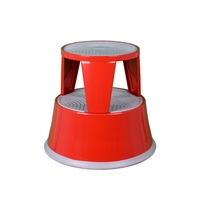 Metal Step Stool Rooling Step Stool