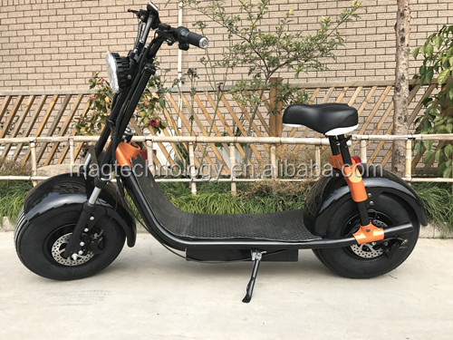2017 Scrooser Seev Citycoco Woqu new design 50KMH speed adult electri tricycle, 2 wheel electric bicycle