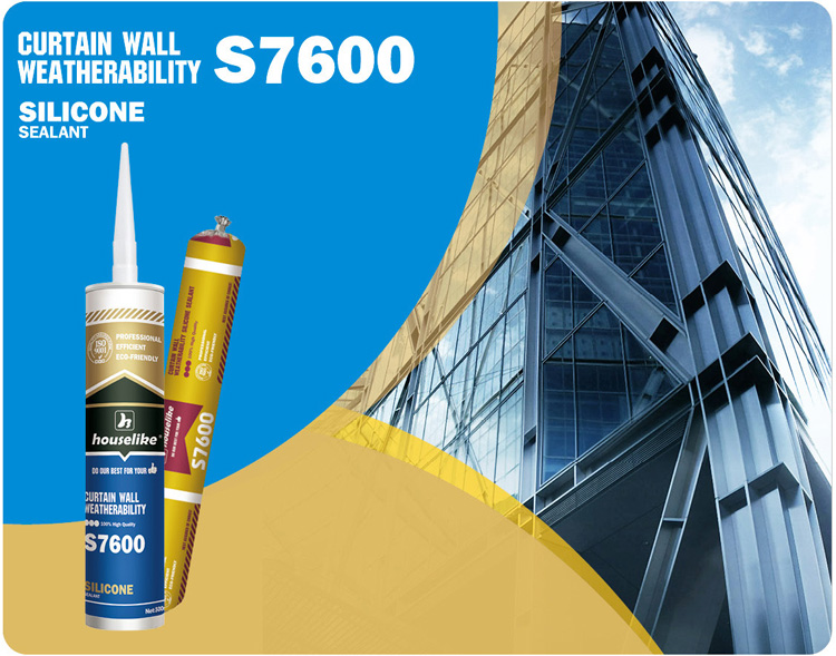 S7600 superfine weatherproof silicone sealant for curtain wall