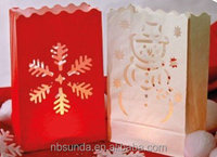 Christmas luminaire candle bags
